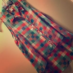 Spring checkered blouse
